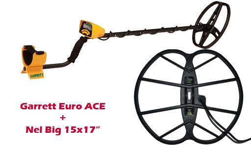 Металлоискатель, металлодетектор garrett euro ace с катушкой.